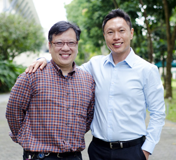 Dr Dennis Kwek (left)and Dr Steven Tan, both part of the organizing committee of Redesigning Conference International Conference 2015, believe that schooling cannot just be about academic outcomes anymore.