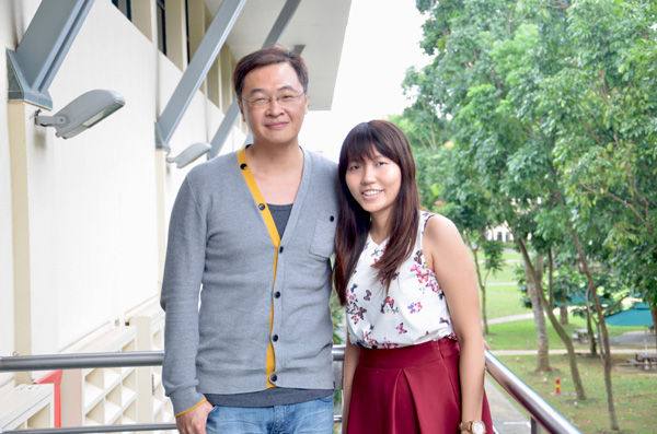 Josh Wang (right) and Natalie Lim believe that a teacher's efficacy will affect the learning experience for low progress learners in schools.