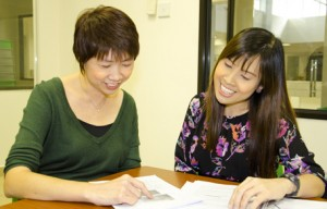 Jennifer Yeo (left) and Su Lynn feel that a teacher-researcher collaboration has brought about benefits for both of them